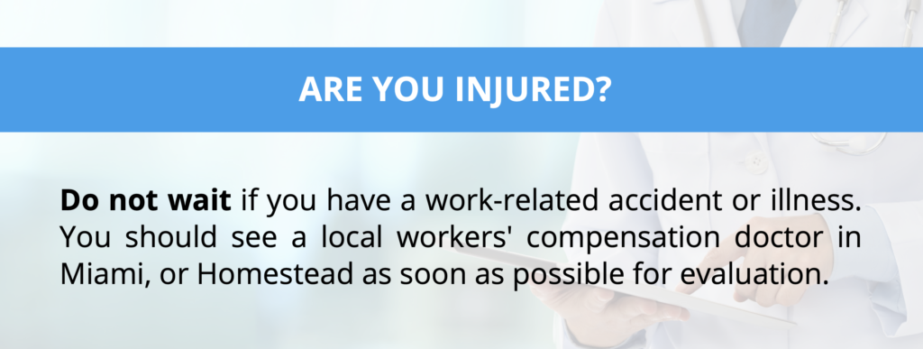 workers compensation doctor miami & homestead